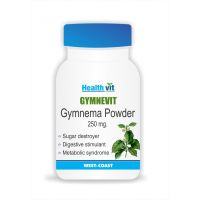 HealthVit GYMNEVIT Gymnema Powder 250 Mg 60 Capsules (Pack Of 2)