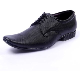 Foot N Style Men's Black Formal Shoes