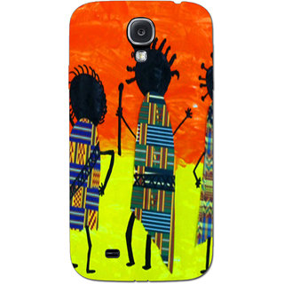 Cell First Designer Back Cover For Samsung Galaxy S4-Multi Color sncf3d-GalaxyS4-219