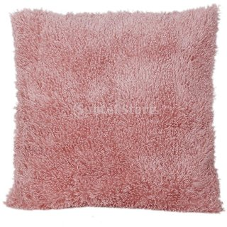 18x18 Super Soft Plush Pillows With Fur Cushion Cover Home Bed Sofa Pink