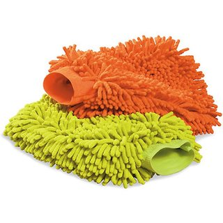 Takecare Microfiber Mitt Multi Purpose Cleaner For Hyundai Santro Xing