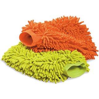 Takecare Microfiber Mitt Multi Purpose Cleaner For Mahindra Bolero 2011 Type-3