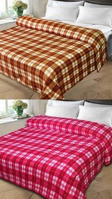 k decor set of 2 double bed blanket(kd-008)