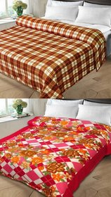k decor set of 2 double bed blanket(kd-011)