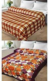 k decor set of 2 double bed blanket(kd-013)