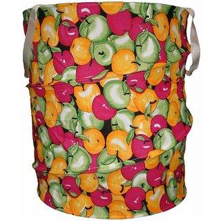 Multicolor Attractive Round Shape Foldable Big Laundry Bag - CNJHUBG