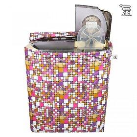 E-Retailer Classic Multi  Colour Semi Automatic Washing Machine Cover Upto 7.5Kg