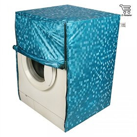 Blue Polyester Front Load Washing Machine Cover