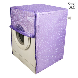 Purple Polyester Front Load Washing Machine Cover