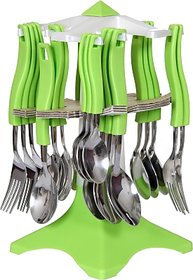 Ritzz Swastic Disposable Stainless Steel Cutlery Set(Pack of 24)