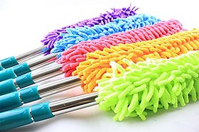 1 Piece Multipurpose Microfiber Cleaning Duster with EXTENDABLE Telescopic Wall