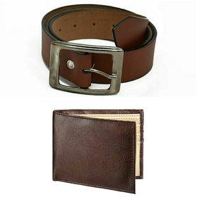 Brown Leatherite Belt For Men