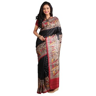 Silk Only Classical Gadd Madhubani Silk Saree