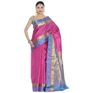 Buy Pothys Pink Blue Silk Vasundhara Lite Kanchipuram Saree With Blouse Piece Online 5000 From Shopclues