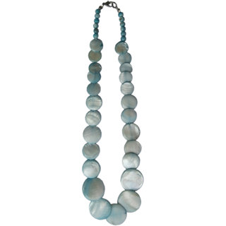 Handmade Marble Stone Antique Nacklace (Blue)