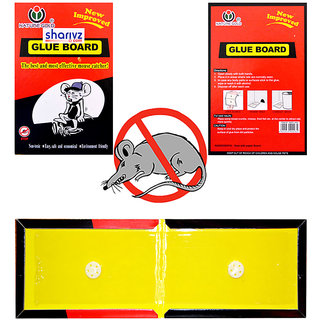 ShaRivz Mouse, Rat Glue Trap Pad (Set of 3)