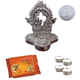 Nicely Decorated Radiant Ganesh Laxmi Mandap Goodies