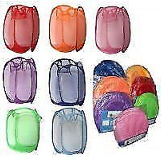 2 PC Set Folding Laundry Bag Basket Clothes Storage Bags Hange