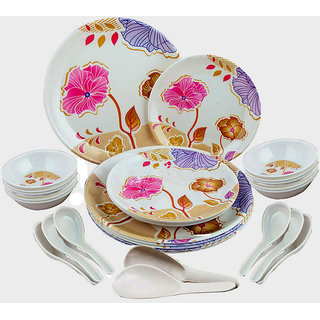 Attractive Collection of 28 Pcs. Melamine Dinner Set