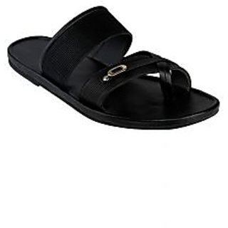 SHOE BAZAR Black Casual Slippers for Men (sb-2863-black)