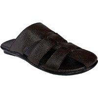 SHOE BAZAR Brown Leather Sandals For Men (sb-1959-brown)