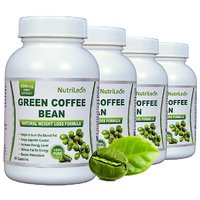 Nutrileon Green Coffee Bean Pure Extract 800mg 60 Capsules (Pack Of 4)