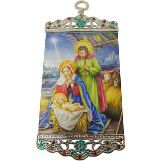 Divine Today The Nativity Scene Canvas Wall Hanging
