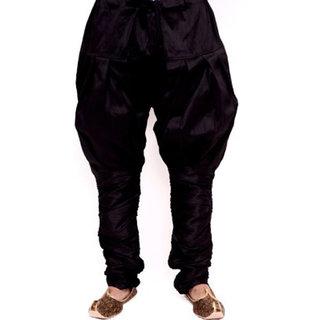 Larwa Mens Dupion Ethnic Pyjama Black