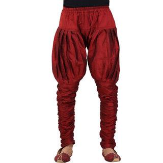 Larwa Mens Dupion Ethnic Pyjama Maroon