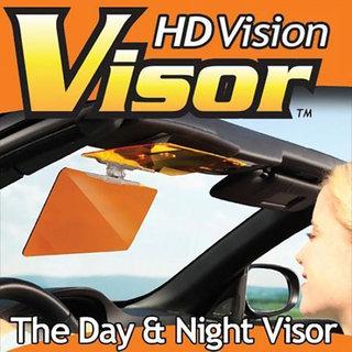 HD Vision Visor Day  Night Vision Flip Down Visor For CAR Easy Sun Glare Block