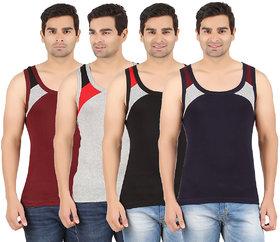 Zippy Mens  SINGLE RIB Multi color Sleeveless Gym vest-ZI-VENTOMNMLBLNY06