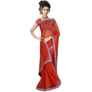 Sukuma  Premium Border Designer Viscose Saree  VscsRed