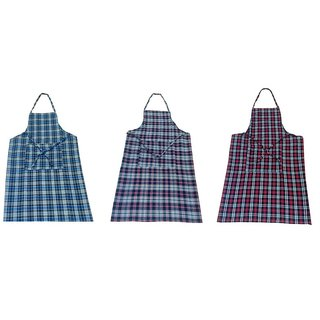 Set Of 3 Checkered Aprons (multicolour)