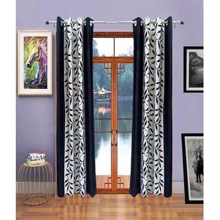 Akash Ganga Kolaweri Design Window Curtain 6 feet(Set of 2)