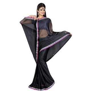 Sukuma  Premium Border Designer Viscose Saree  VscsBlack