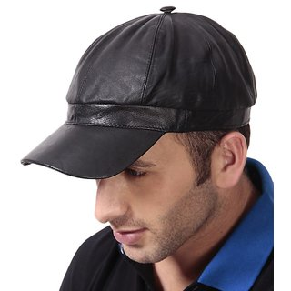 Buy Walletsnbags Black Leather Baseball Cap Online - Get 21% Off 1a60719dd767