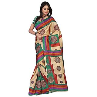 Kajal Casual Marvellous Beige Printed Saree