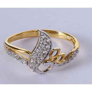 Gold Ring In 18 Karat For Women Studded With Cz At Whole Price