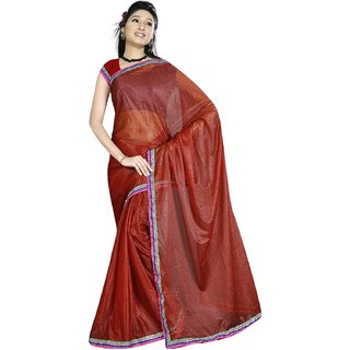 Sukuma  Premium Border Designer Viscose Saree  VscsBrown