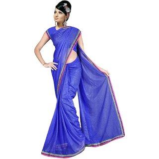 Sukuma  Premium Border Designer Viscose Saree  VscsBlue