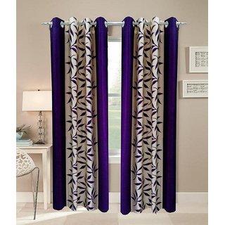 Akash Ganga Kolaweri Design Long Door Curtain 10 feet(Set of 2)