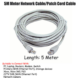 Branded 5 Meter Ethernet Network High Quality CAT5E Lan Cable