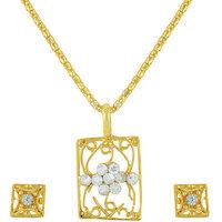 designer gold plated pendant set