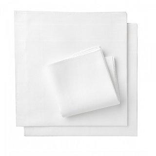 Mens White Handkerchief- 3 pcs