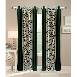 Akash Ganga Kolaweri Design Long Door Curtain 9 feet(Set of 2)