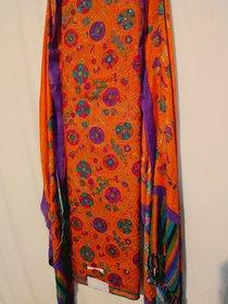 Buy Orange Womens Semi-stitched Salwar Suit By Riti Riwaz