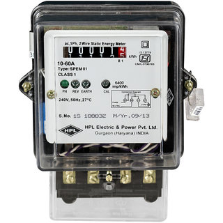 HPL Single Phase counter type 10-60A Energy Meter SPPC1510000E1