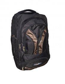 Apnav Black-Brown Laptop Backpack/College Bag