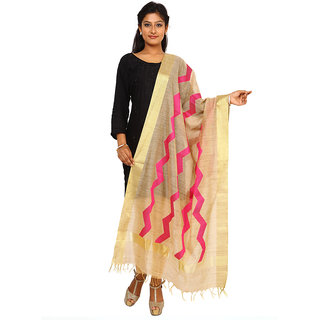 Kataan Bazaar Beige Tussar Silk Dupatta