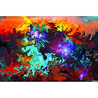 Abstract Paintings With Color Strokes Dark Paint Brushes